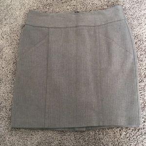 Grey stretch mini skirt for work